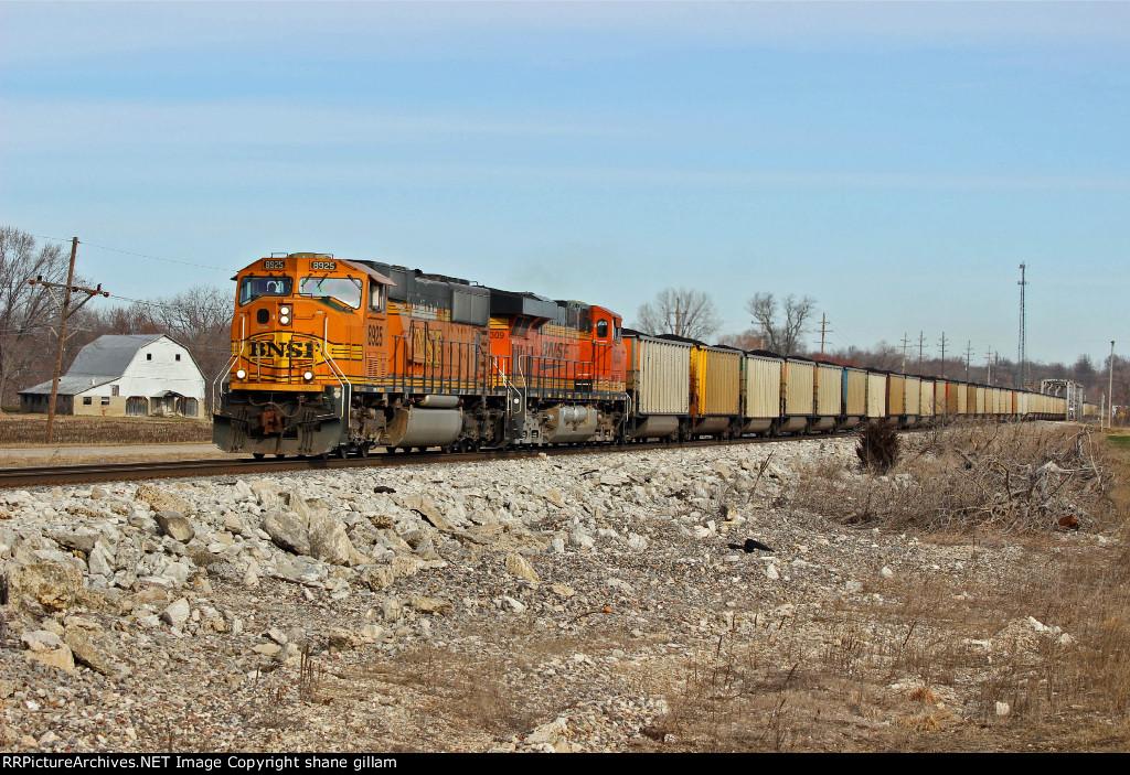 BNSF 8925 Takes a SB coal load.