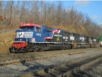 NS 25Z with NS 6920 leading pulling up the mountain at the Brickyard Crossing! That Nice RS5T horn was sounding good!