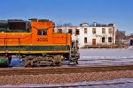 BNSF 3035 Shoves E-PDEGJC9-02 to the Palmer Branch