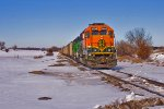 BNSF 3035 Shoves E-PDEGJC9-02 on the Palmer Branch