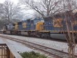 CSX action on a dreary day
