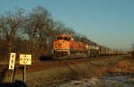 BNSF 5784 WEST ON NS AT OGDEN DUNES MP488