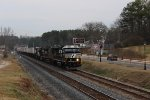 NS 203 Intermodal Train in Buford, GA w/ SD60E Leading