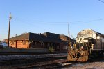 The Sun Setting On A SD40-2 and The Depot