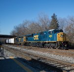 CSX SD80MAC leads Freight