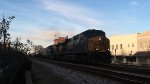 CSX F774 arrives at rocky mount with 2 es44dcs on valentines day