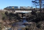 CSX 8365 leading Q542 over Camp Creek