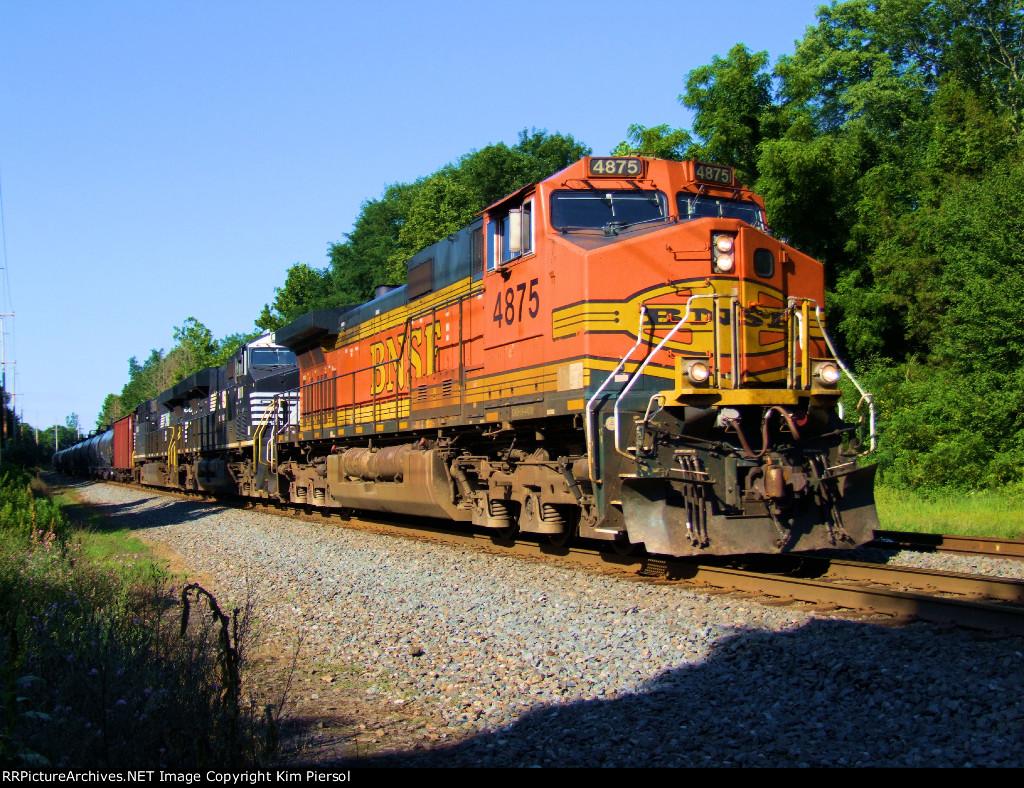 BNSF 4875 NS 8111 CSX Train K041 Crude Oil Empties