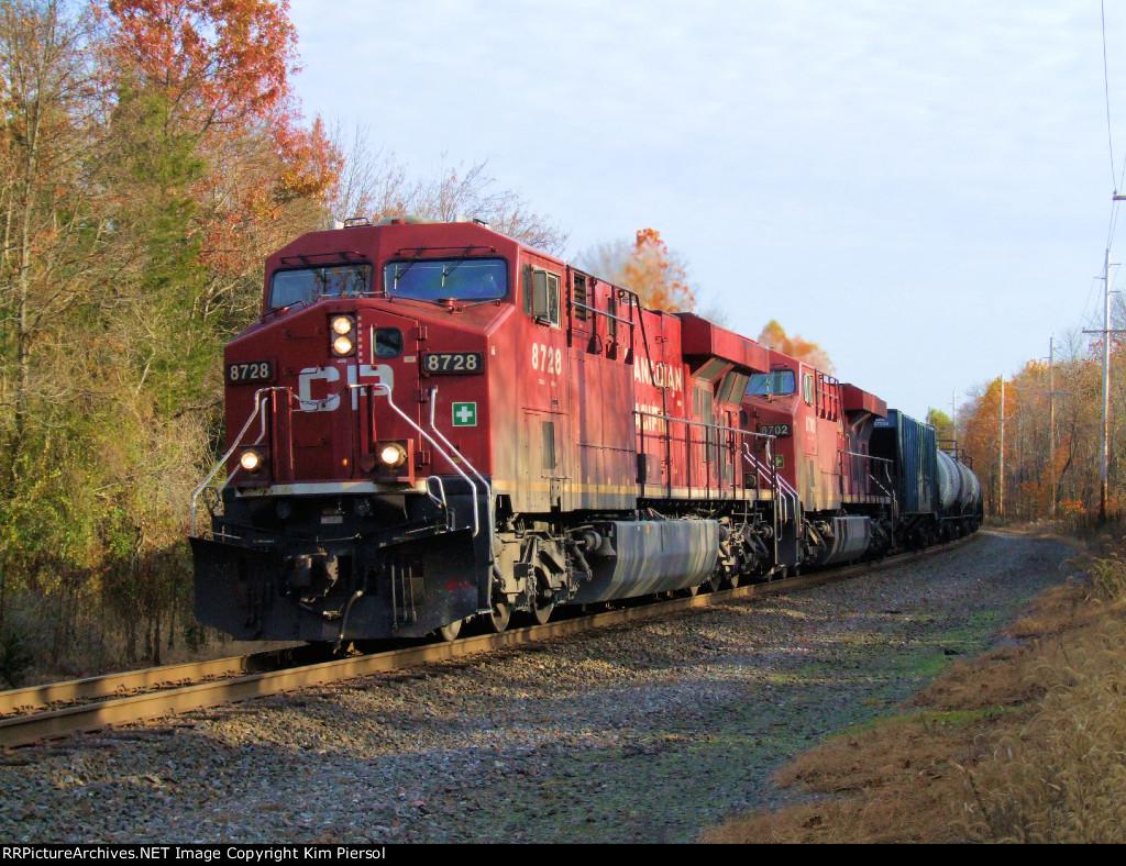 CP 8728 8702 CSX Train K487 Ethanol Empties Re-Route
