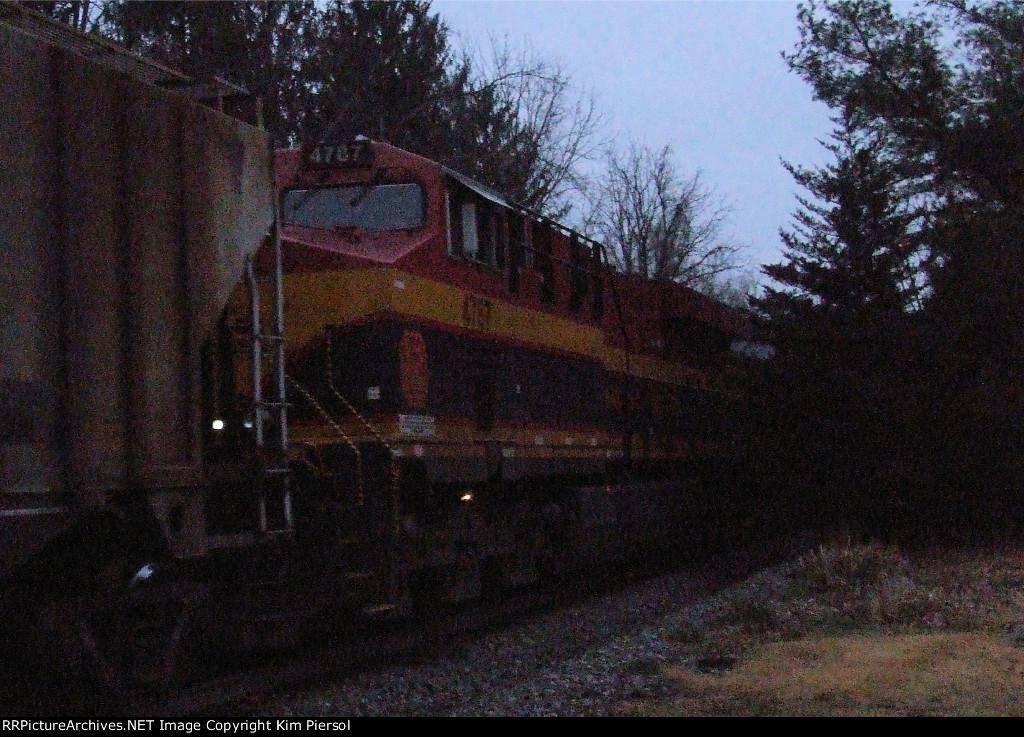 KCS 4787 on CSX Train K045