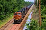 BNSF 7519 NS 1051 NS 1011 CSX Train K040-07 Crude Oil Loads