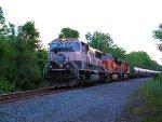 BNSF 9613 4358 5672 CSX Train K041 Crude Oil Empties