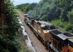 BNSF 9713 UP 7292 CSX Train K040 Crude Oil Loads
