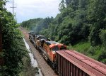 BNSF 9713 UP 7292 BNSF 6145 CSX Train K040 Crude Oil Loads