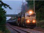BNSF 9773 CSX 7708 BNSF 7156 CSX Train K040-25 Crude Oil Loads