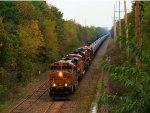 BNSF 5927 9088 6232 CSX Train K040 Crude Oil Loads