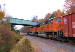 BNSF 9330 8768 CSX Train K041 Crude Oil Empties