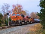 BNSF 5855 CP 8842 BNSF 9948 CSX Train K043 Crude Oil Empties