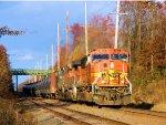 BNSF 8271 7146 UP 6379 CSX Train K042 Crude Oil Loads