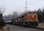 BNSF 4051 607 CSX Train K040 Crude Oil Loads