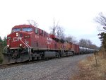 CP 8855 BNSF 4946 CSX Train K049-22 Crude Oil Empties
