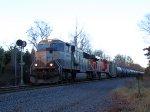 BNSF 9536 CSX Train K043 Crude Oil Empties