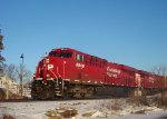 CP 8949 and another GEVO highball 499 past Pewaukee Lake