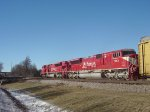 INRD 9001 trails sister 9009 on CP 281