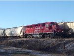 As the westbound unit grain clatters along Main 1, CP 4521 brings G67 east on #2 main