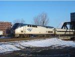 AMTK 46 brings Hiawatha train 337 off the Menomonee Bridge