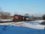 Amtrak 7 easily outruns a 9220' CP train #281