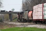 Foreign power on WB unit grain train 391 was blocked by the eastbound on Main Track 2
