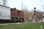 About to knock down the high green on the Soo Line-era searchlight signal