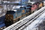 A closer look at CSX 3007 leading CP 485 is my last train photo of 2013