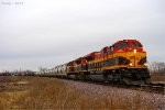 Southbound CP Loaded Grain Train