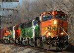 BNSF 5194 and FOUR SD60Ms