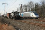 NS local H6G meets Amtrak 2164(8)