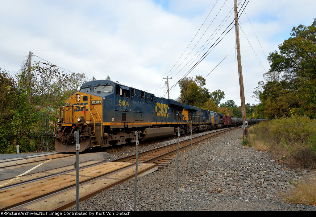 Southbound oil train