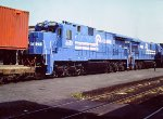 New Conrail C32-8s (and a C30-7A) on TV train - 1984