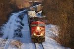 CP (ex-D&H) Freight Main; CP 252 @ CPF 532.5
