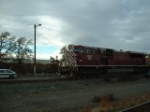 SB freight rolling by