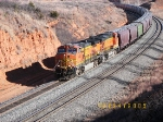 Westbound unit grain train