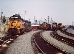 1988 - Early CSX mix of power at Riverside Shops