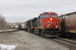 CN 2638 & IC 1031 come east at track speed with M396