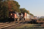 CN 5660 & 2323 roll west on the Flint Sub in the morning sunshine with Q149