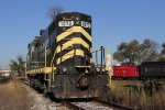 1073 waits for local work as the Little River's caboose 2623 sits on their spur