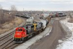With CN 5422 & 7623 for power, L501 pushes about 50 cars into Torrey Yard for setout