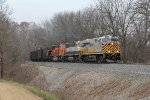 N903 disturbs the peace of the Kalamazoo River valley as its 12,000 horsepower on the headend fights gravity