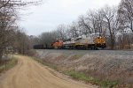 N903 rolls through the sweeping curves as it climbs Saugatuck Hill