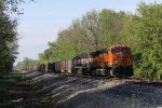 BNSF 6356 & 9532 sit in the siding at Wells with N910-22